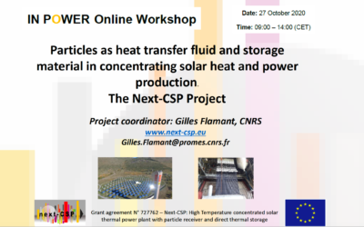 Next-CSP Presentation at IN POWER online workshop