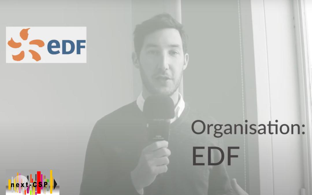 Meet the team: video interview of EDF, Next-CSP partner
