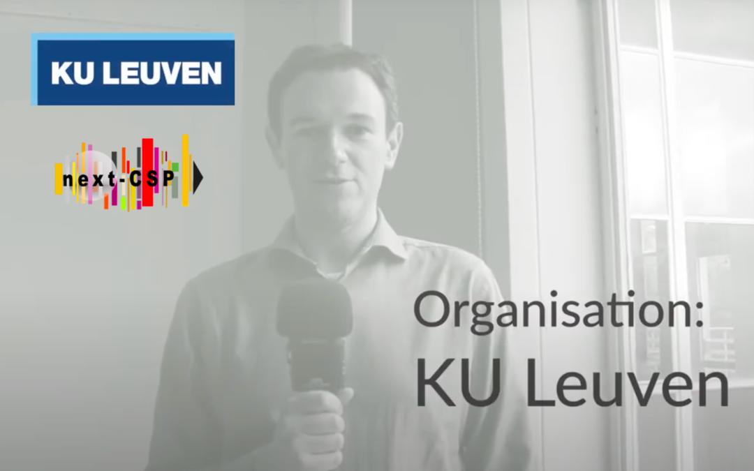 Meet the team: an interview with Next-CSP partner KU Leuven