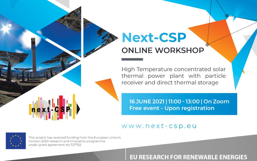 Next-CSP Online Workshop – 16 June 2021